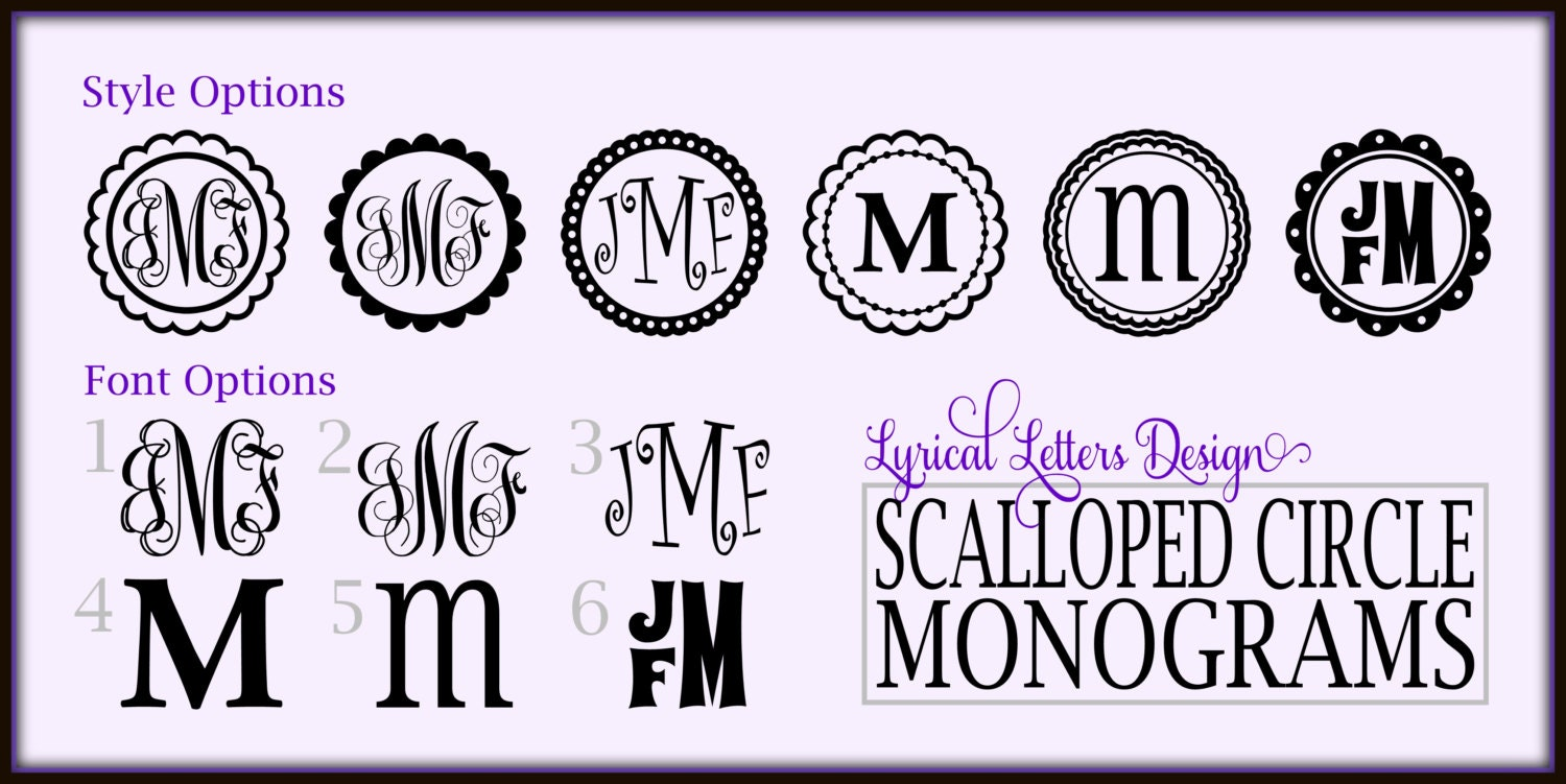 Free Monogram Fonts Circle Cbe 2017 2018 Best Cars Reviews