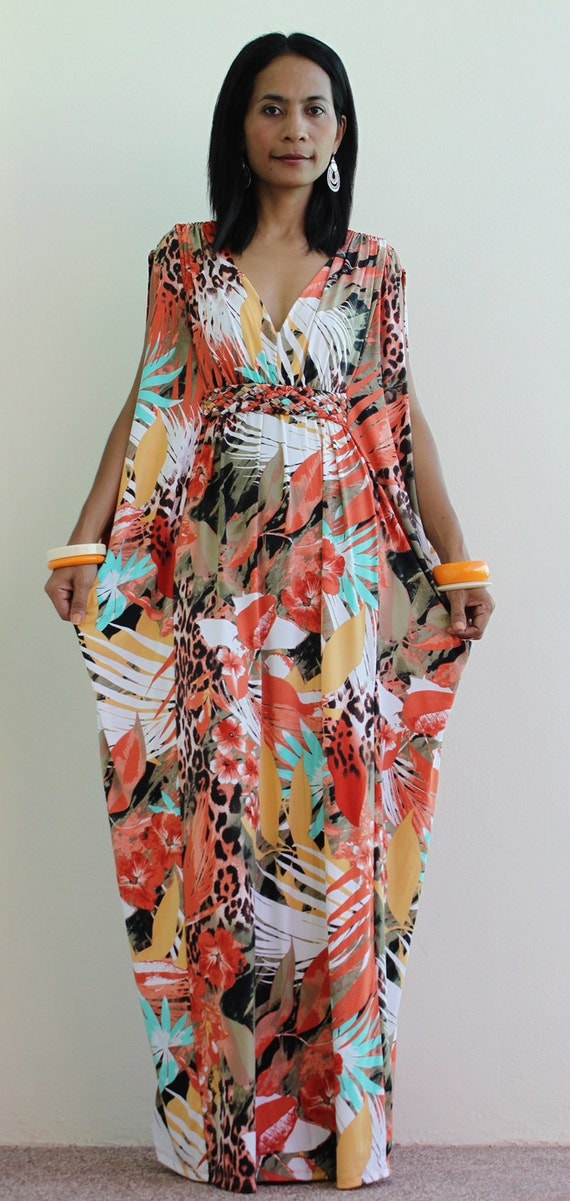 long kimono maxi dress african print dress  elegant