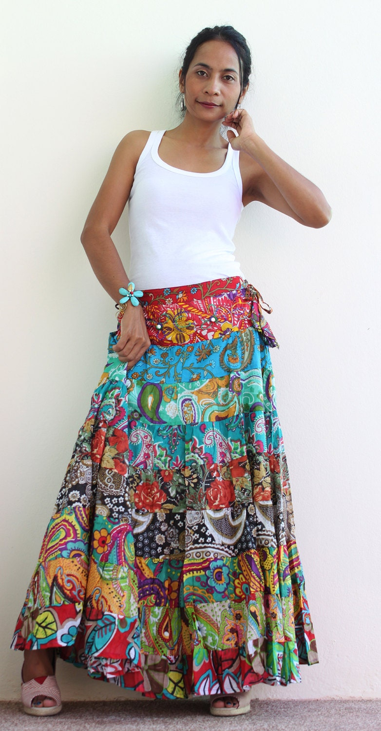 Reserved for Kristine Boho Maxi skirt Long hippie skirt