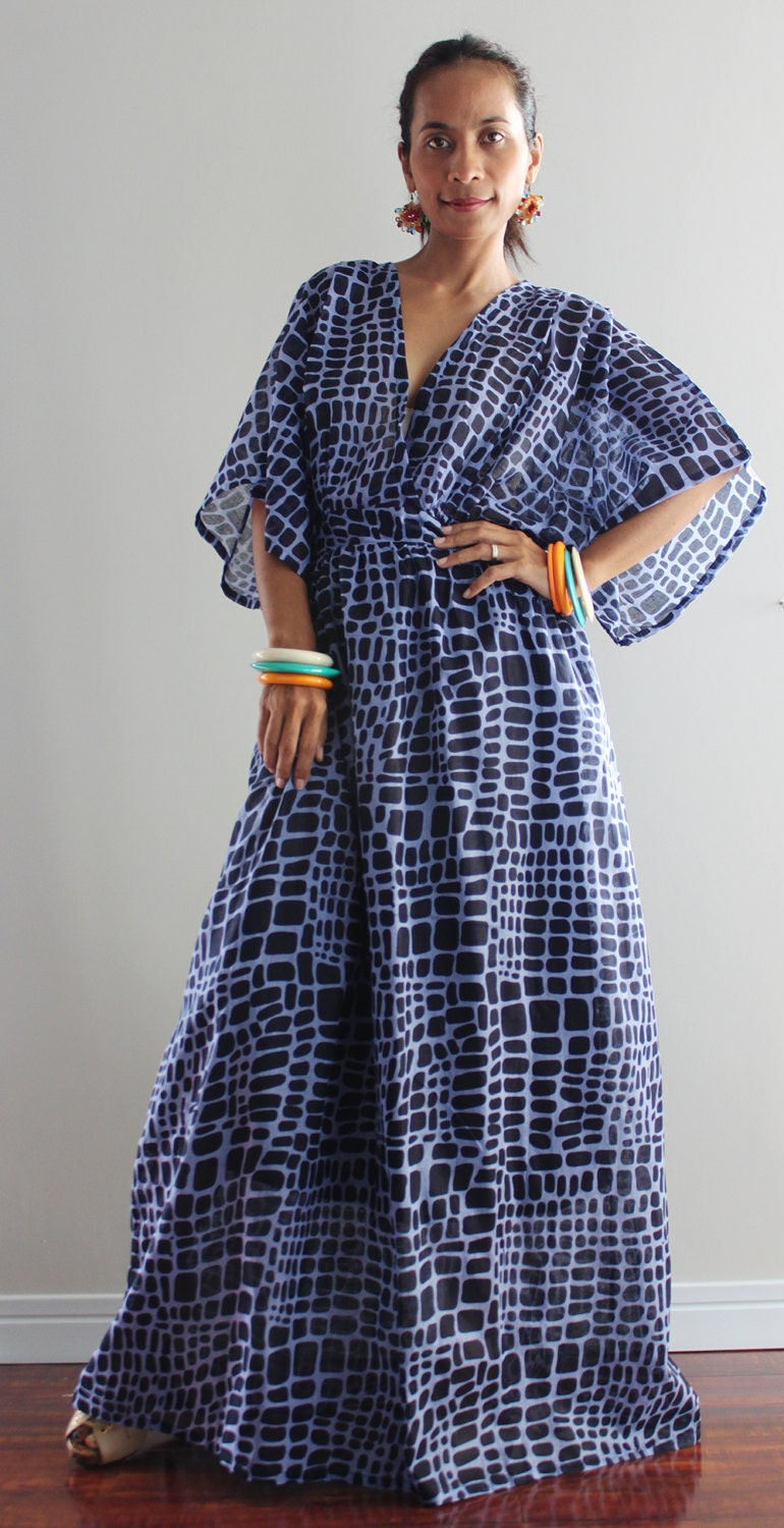 Boho Maxi Dress Kimono Women Kaftan Long Maxi Dress : Boho