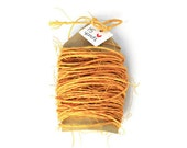 Sisal cord mustard yellow .15 yards . Fall Autumn string gift wrap rope . 1mm thin. natural . bright twine . wrapping cord . rustic