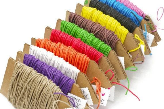 READY TO SHIP Colored twine hemp fiber cord 20 yards 100%