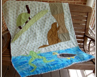 "Child's Quilt Pattern ""Pond Life"""