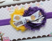 Los Angeles Lakers team headband.  Infant, toddler, child, adult sizes