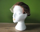 Vintage 19405 50s UNION MADE Mink Fur Hat with Satin Bow-like detail and Cage