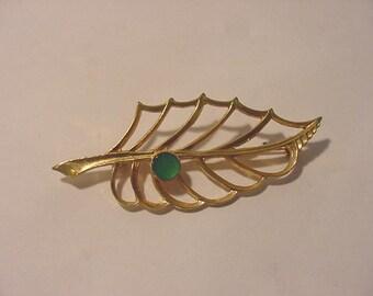 Vintage Abstract Leaf Brooch    146