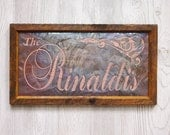 Personalized Name Sign Copper Engraving, Cool Gift for Couples, Unique Housewarming gift, Personalized housewarming gift, unique gift