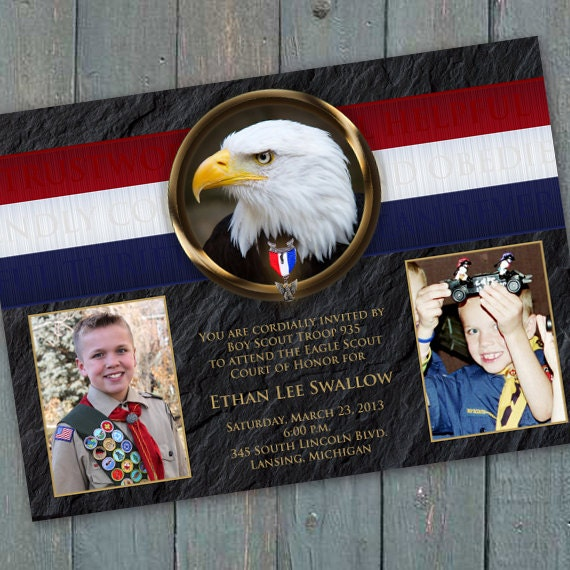 Eagle Scout Court of Honor invitation, BSA invitation, Eagle Scout commemoration, Boy Scouts of America invitation, BSA invitation