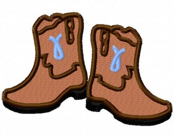 Cowboy Boots - Pair - Machine Embroidery - 6 sizes