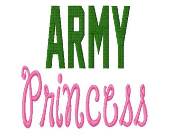 ARMY Princess - Fill - Machine Embroidery Design - 8 Sizes
