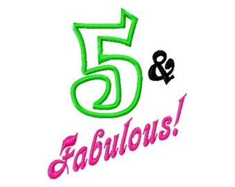 Fabulous and 1-12 - Applique Number Set - Machine Embroidery Design - 6 Sizes