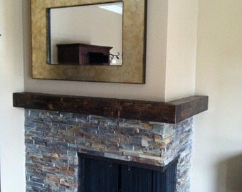 Mantel rustic wood - made to order  60-72""