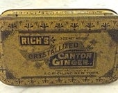 Rich's Crystallized Canton Ginger Lithographed Tin