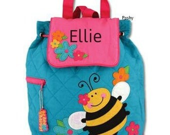 Personalized Toddler Backpack Quilted Bee