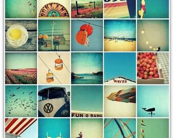 art print set // beach print set // art for summer - twenty-five, 8x8 photography art print set
