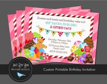 Candyland Candy Land Invitation - YOU PRINT (Digital File) Custom Printable Birthday Party Invitation
