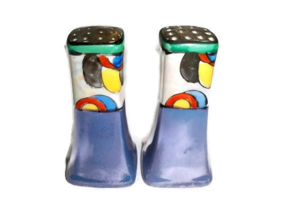 Items similar to rare vintage colorful salt and pepper Colorful salt and pepper shakers