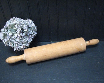 Antique Turned Maple Rolling Pin
