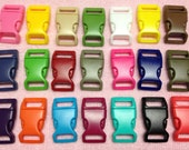 """30pc 5/8"""" (16mm) Contoured Side-release Plastic Buckles Eco-Friendly - 21 Colors Available"""