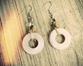 Found Washer Dangle Earrings