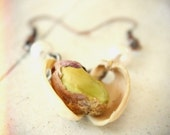 Pistachio Shell Dangle Earrings