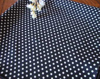Polka Dot Scarf Black with White Dots Vintage Ladies Scarf