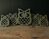 Owl Family Trivets