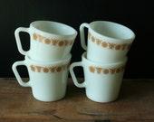 Golden Butterfly Pyrex Mugs -Oven Safe