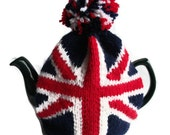Union Jack tea cosy cozy for a medium to large pot. Made to order.