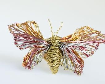 Art Jewelry Butterfly  brooch Wire butterflies Art brooch Unique jewelry Insects jewelry Insect art Butterfly jewelry Brooch pin.