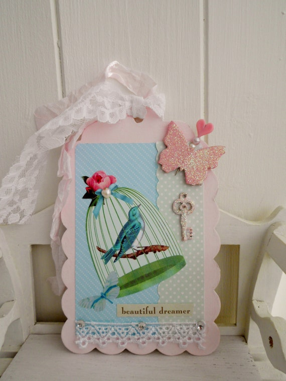 Cottage chic Gift Tag