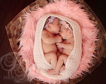Cocoon, Twins Newborn Photo Prop, Newborn Crochet Cocoon, Twin Photography Props, Newborn Cocoon, Newborn Photo Prop, Crochet Baby Prop