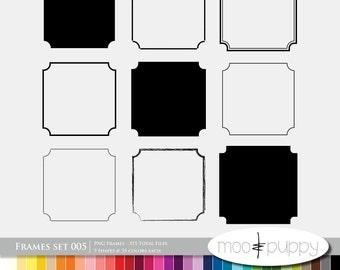 Digital Scrapbooking Frame Set 005  --  315 Total PNG files -- INSTANT DOWNLOAD