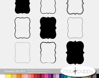 Digital Scrapbooking Frame Set 015  --  315 Total PNG files -- INSTANT DOWNLOAD