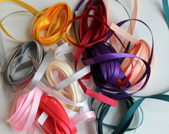 "1/4"" Satin Ribbon - 30 yards of Assorted Colors"