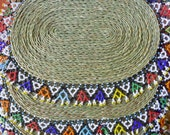 African beaded placemats for plates or serving dishes for the table or decorative for anywhere in the house