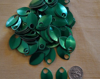 Dragon Scales - Aluminum - Small - Green - Sets of 100