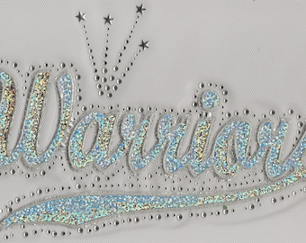 Warriors Sequins and Rhinestone Transfer Applique ONLY