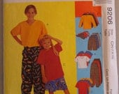 OOP McCall's Sewing Pattern 9206 size Child  7-8-10 Uncut