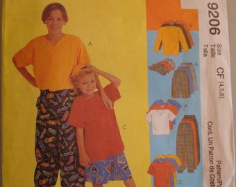 OOP McCall's Sewing Pattern 9206 size Child  4-5-6 Uncut
