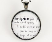 Custom Dictionary Necklace, Personalized Word Jewelry, Customized Pendant .