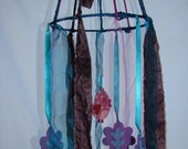 Mobile / Bird Magical Forest / Teal Purple Pink / Nursery Decor / Ready to Ship - AddiesWonders