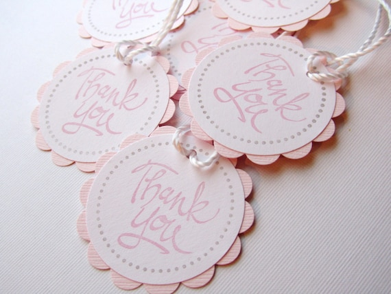 baby shower favor tags thank you tags pink set of 12 tags