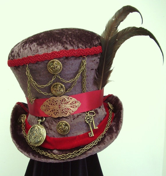 items similar to mr circus steampunk mad hatter brown