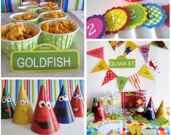 Sesame Street Party Pack, Customized