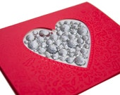 Valentine Card, Free Shipping, OOAK, Valentine Bling