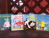 Vintage Little Golden Books Set of 4