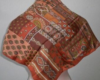 Vintage Echo Scarf Paisley Silk Chinon Fall Fashion