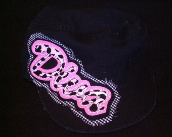 Sale - Cadet Hat - Black with DIVA embellishment