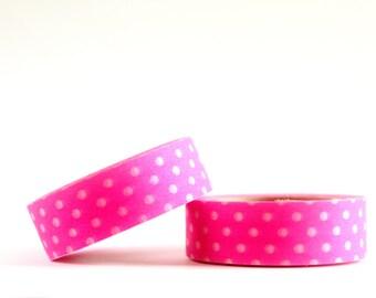 Neon Pink Dots Washi Tape